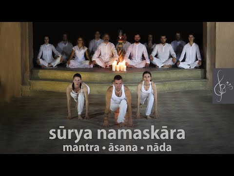Surya Namaskara | mantra-asana-nada | Sun Salutation with beautiful music | Napüdvözlet, jóga