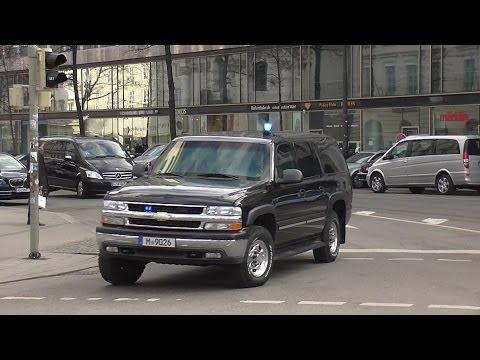 [VIP-Eskorte] Einzigartiger Chevrolet Suburban mit Blaulicht