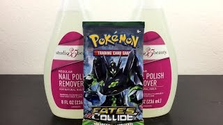 Pokemon Experiment: BOOSTER PACK DROWNED IN NAIL POLISH FOR A DAY!