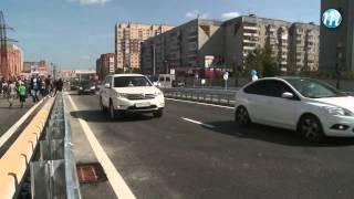 Открытие путепровода на Мельникайте(Тюмень. Начало движения по новой автомобильной эстакаде в районе ТЦ «Южный» - очень значимое событие для..., 2013-08-22T09:05:50.000Z)