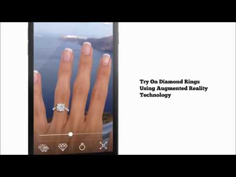 (1) Try On Live Augmented Reality Diamond Rings - AR Diamonds - YouTube