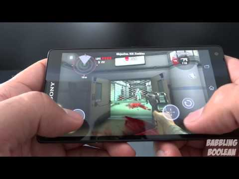 Sony Xperia ZL Gaming Demo
