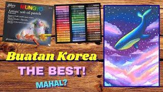 Favorit Seniman Luar. Harus Coba!!! Mungyo Gallery Artist Soft Oil Pastel 48 Review in Bahasa screenshot 3