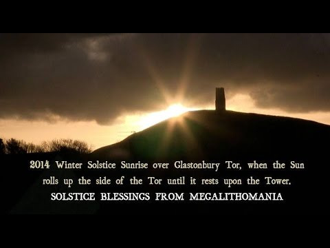 2014 Winter Solstice Sunrise - Glastonbury Tor - YouTube