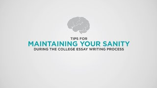 College Essay Tips | Self Care, Nutrition, and Sanity During the Application Process