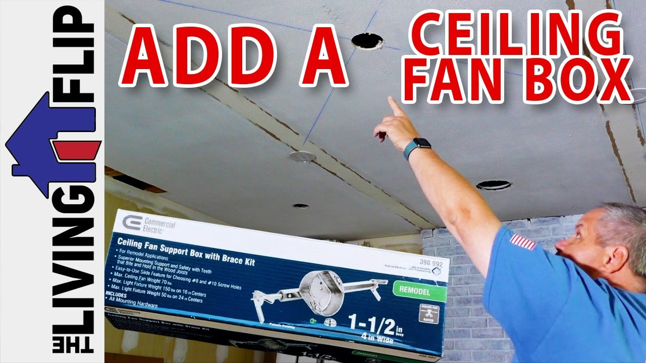 Commercial Electric Ceiling Fan Support Box With Brace Kit 2021