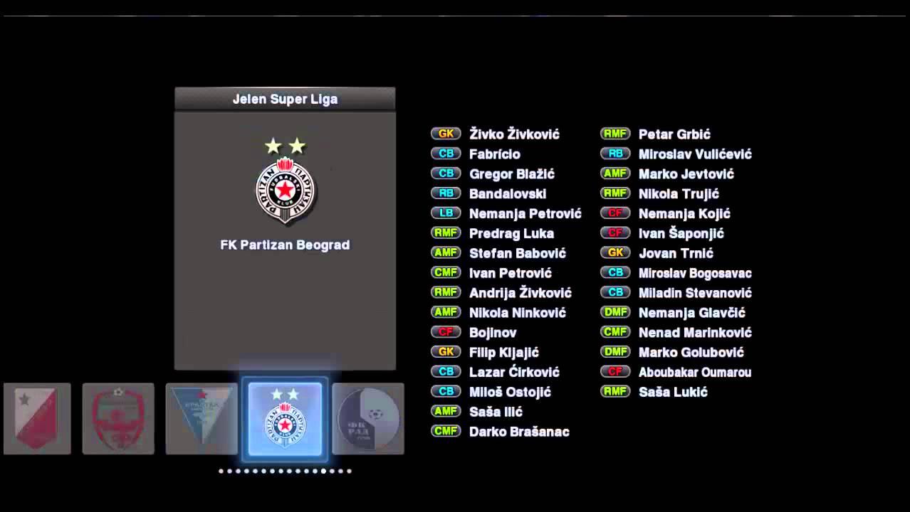 Amf Bz pes 2013 fk partizan beograd kits 2015/2016 +download link