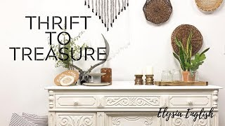 Thrift To Treasure | Trash to Treasure | Thrift Store DIY | Bohemian Decor | Up-cycled Projects