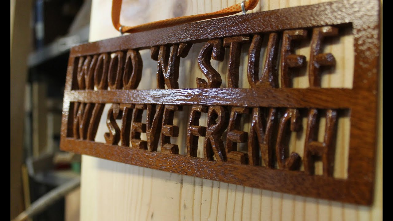 How to make a wooden name plate: Woodworking project - YouTube