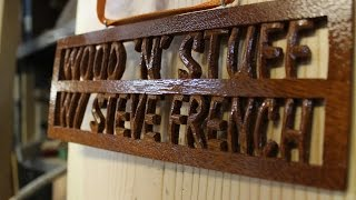 How To Make A Wooden Name Plate: Woodworking Project
