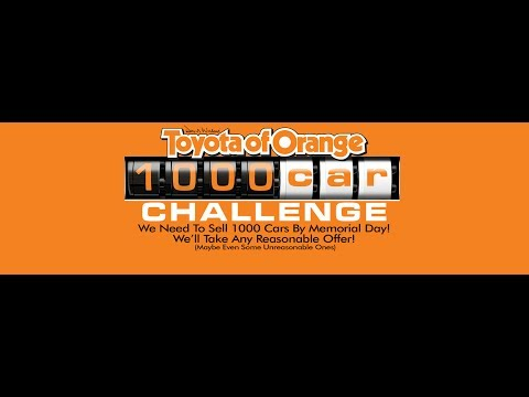 Toyota Of Orange >> Toyota Of Orange 1000 Car Challenge Toyota In Orange County Youtube