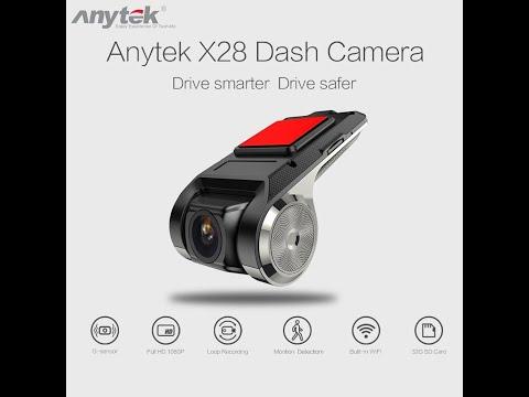 Dvr Veicular Anytek X28 Ucardvr Gps G-sensor 1080 Full Hd Para Central Multimídia Androide (Instal)