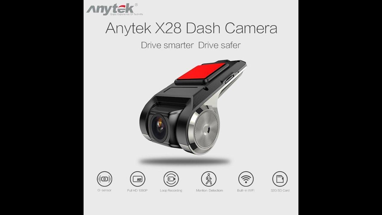 Download Dvr Veicular Anytek X28 Ucardvr Gps G-sensor 1080 Full Hd Para Central Multimídia androide (Instal)