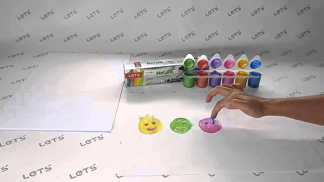 Lets Oyun Hamuru Setleri 6 Renk Metalik Parmak Boyası Youtube