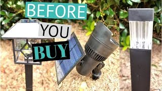 Landscape lighting - Why You DON'T Want Solar Lights!