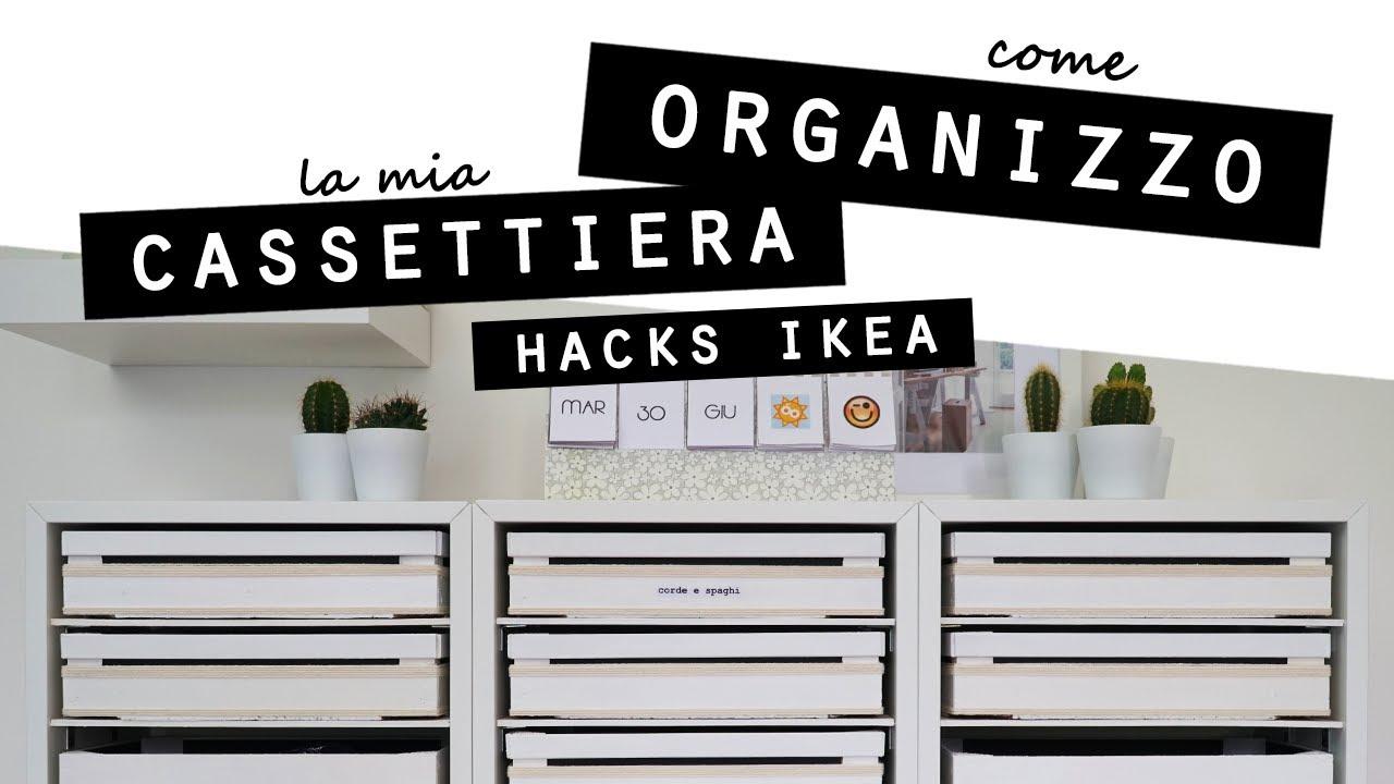 Come ORGANIZZO la mia CASSETTIERA e SCRIVANIA/HACKS IKEA per la CASA, FAI DA TE e RICICLO CREATIVO