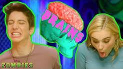 Zombie Brain Food Challenge 🤢   ZOMBIES   Disney Channel