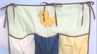 Quack Quack Ducks Baby Crib Nursery Bedding Set 13 pcs ; Duck Baby Bedding