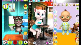 My Talking Tom and Talking Angela and Best Talking Stars All In One || Gameplay Full HD 1080p60