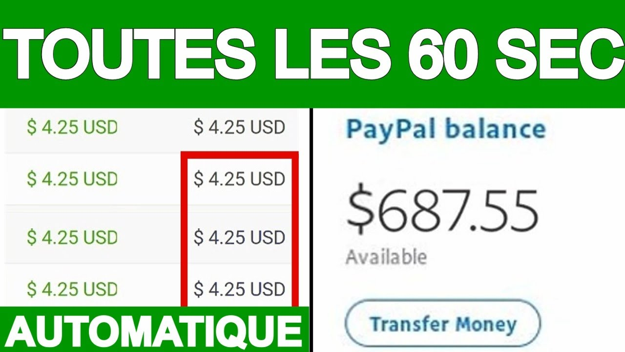 Gagner 4.35€ d'Argent PAYPAL TOUTES les 60 SECONDES /Gagner de l'Argent en ligne, Argent PayPal,2020