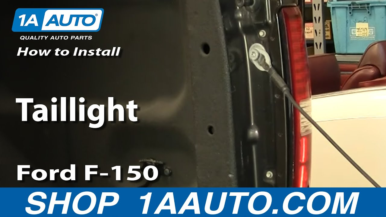 how to install replace taillight ford f