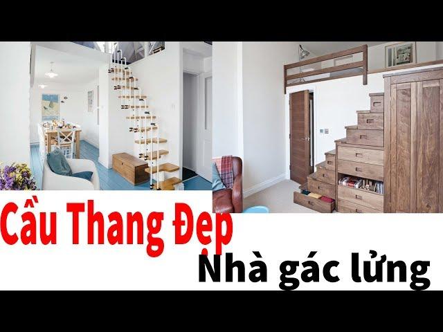 Những mẫu cầu thang đầy sáng tạo cho nhà gác lửng | Nội Thất Thủ Đô