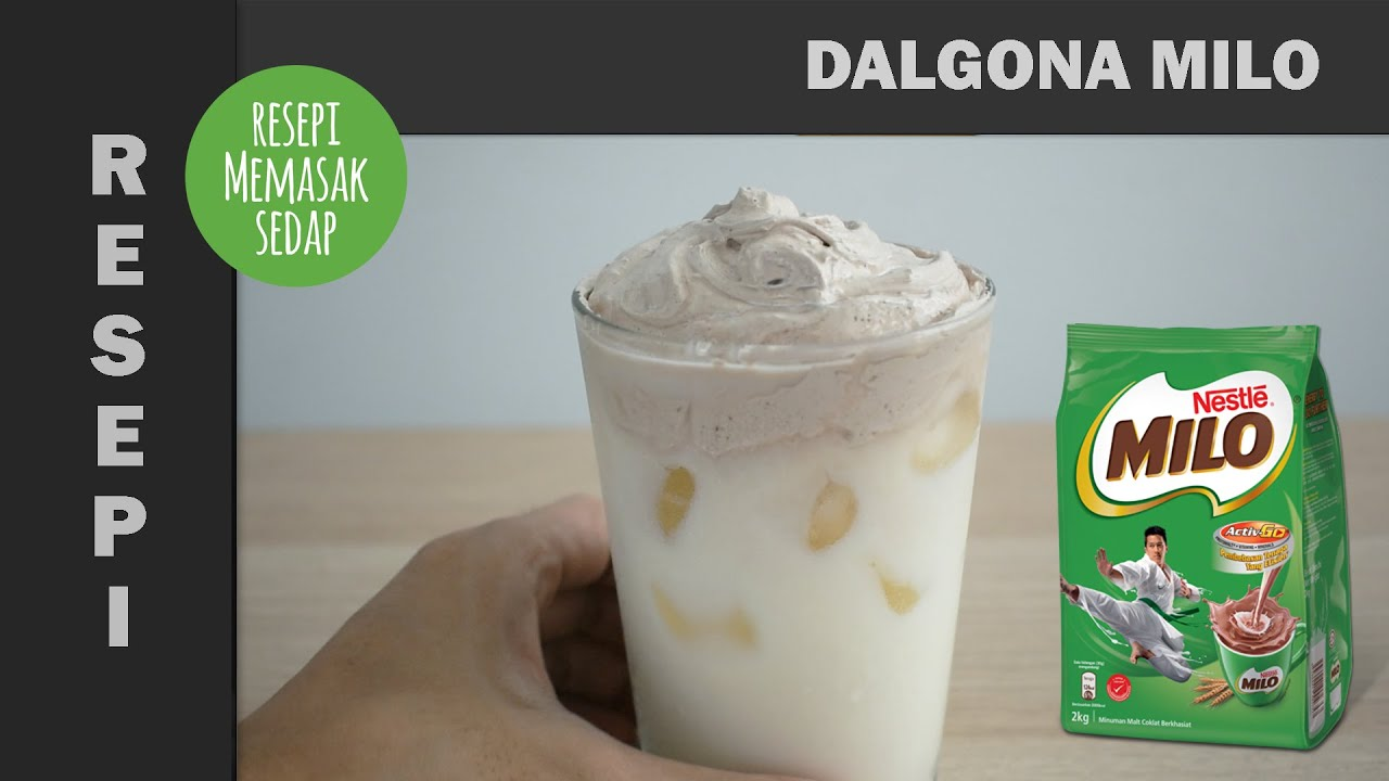 Resepi Dalgona Milo Simple Ovalet Mixer tanpa Whipping Cream Viral Mudah dan Senang
