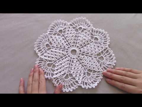 Схема салфетки вязаной крючком