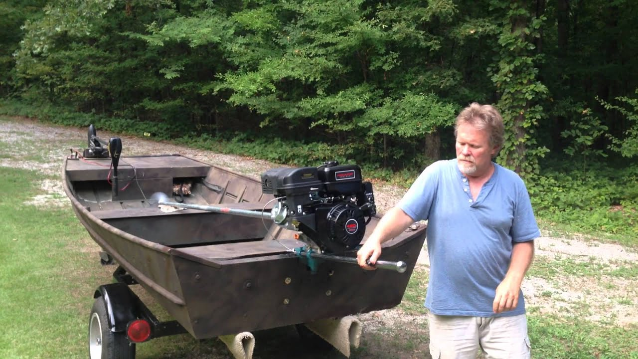 14 Ft Boat With 420cc Long Shaft Mud Motor Youtube