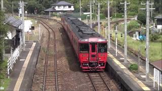 夜明駅 キハ185系特急ゆふ2号71号通過 2019.10.21