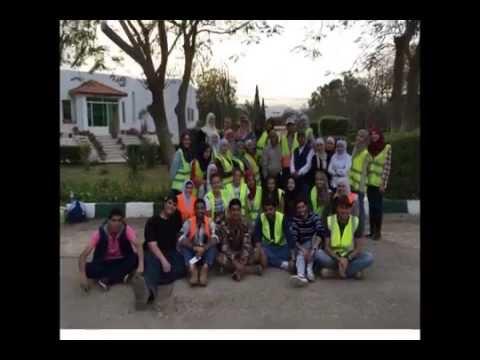Landscape construction class at the Uninersity of Jordan Botanical garden 2016