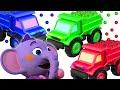 Kent el Elefante   Camiones de carga con bolitas de colores - Juega y aprende