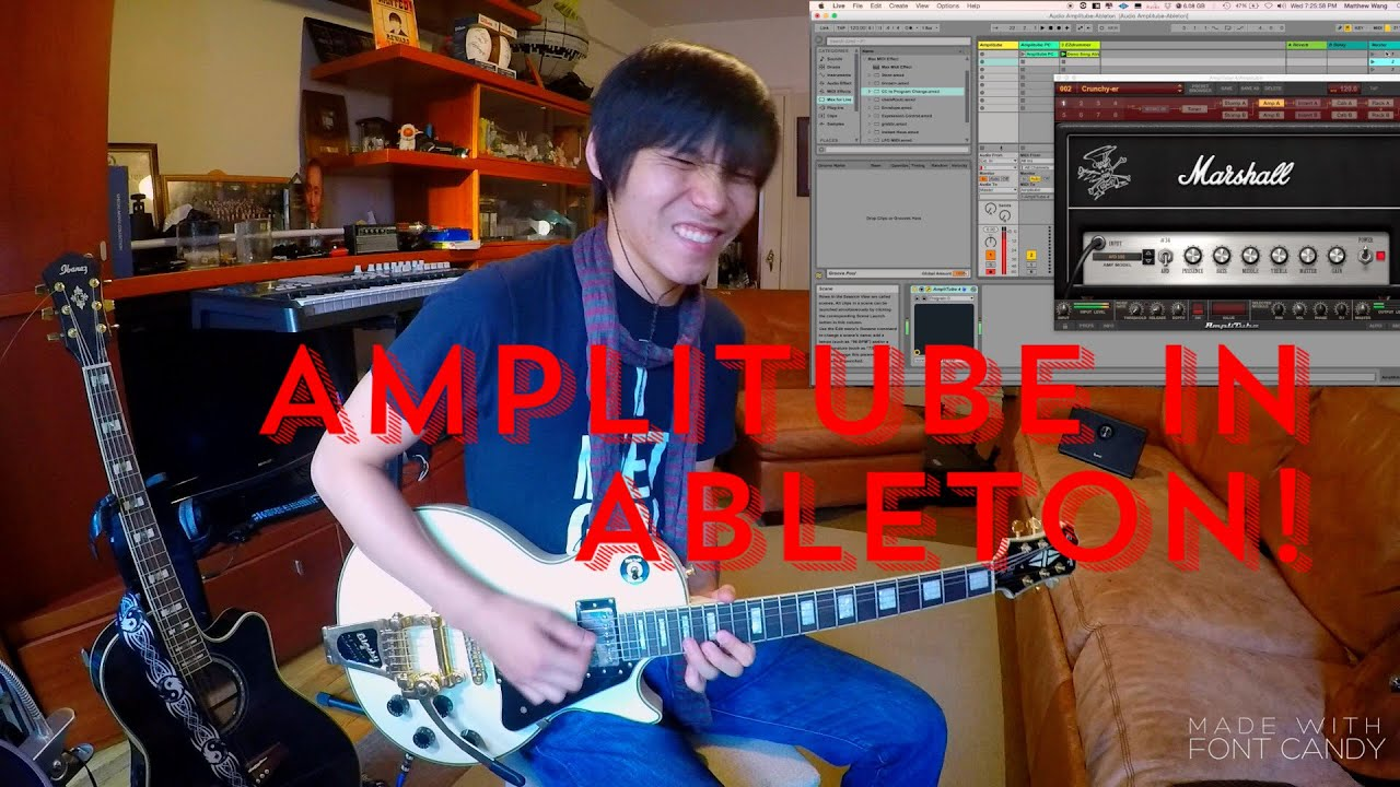 how to setup a guitar rig in ableton using amplitube 4 youtube. Black Bedroom Furniture Sets. Home Design Ideas