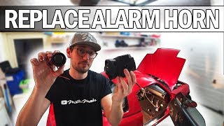 MX5 NA Miata - How to replace your alarm horn and make a alarm unit bracket