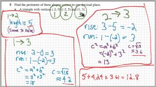 Math Examples: Perimeter oḟ Triangle From Coordinates of Vertices
