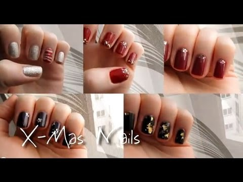 5 x mas nailarts christmas nails nageldesign zu. Black Bedroom Furniture Sets. Home Design Ideas