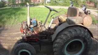 Самодельный трактор Т-25 обзорное видео(самоделка с дизельным двигателем от трактора Т-16 (Т-25), 2012-05-16T19:15:41.000Z)