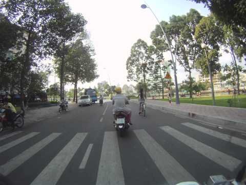 Stacia's drive from school to home in Ho Chi Minh City