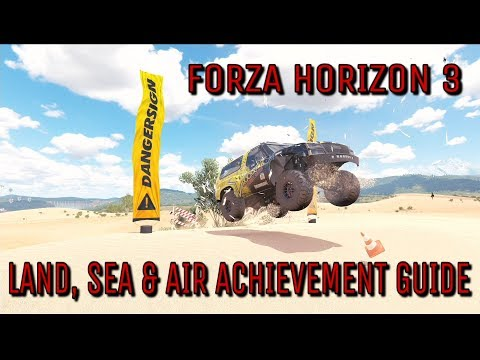 Forza Horizon 3 - Land, Sea & Air achievement Guide - Hoonigan Car Pack