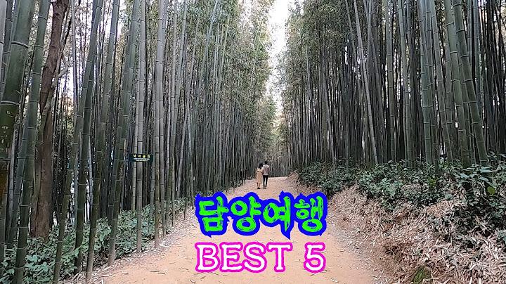 담양여행BEST5/죽녹원/국수거리/소쇄원/광주호생태공원/관방제림