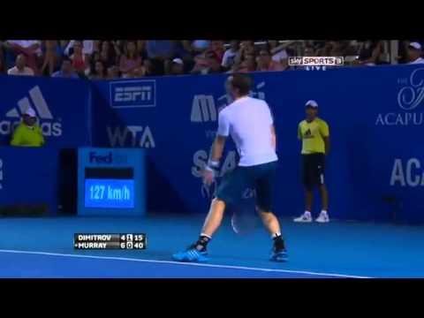 Andy Murray Vs Grigor Dimitrov atp 500 acapulco Semi Final HIGHLIGHTS 2014