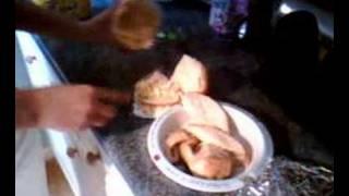 Turkey, Cole Slaw & Coco Pops Sandwhich