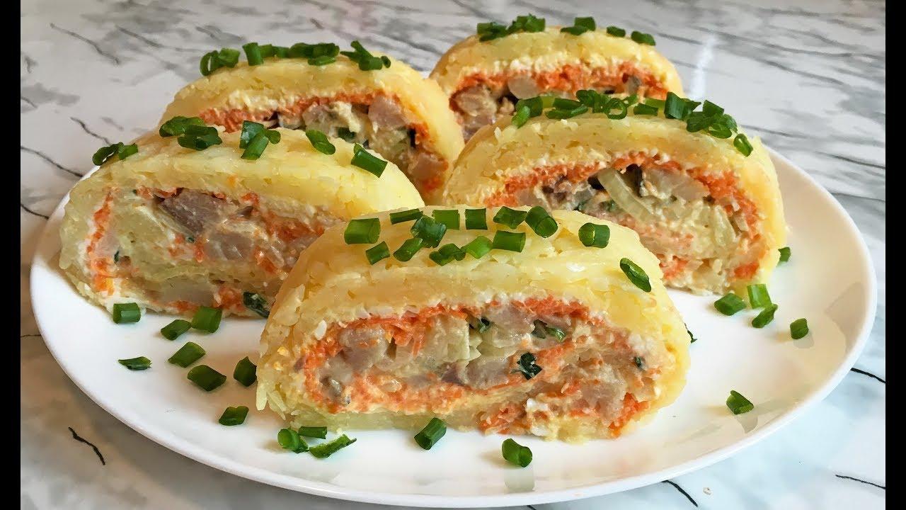 Бесподобный Салат-Рулет с Копченой Скумбрией / Новогодняя Закуска 2019 / Smoked Mackerel Salad