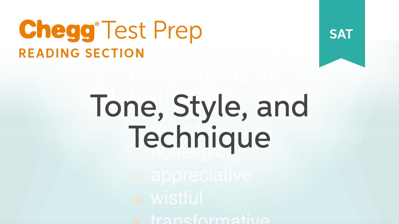 sat prep sat reading tone style technique chegg test prep