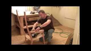Building an Maloof inspired Elegant Rocking Chair - Shaping the Arms