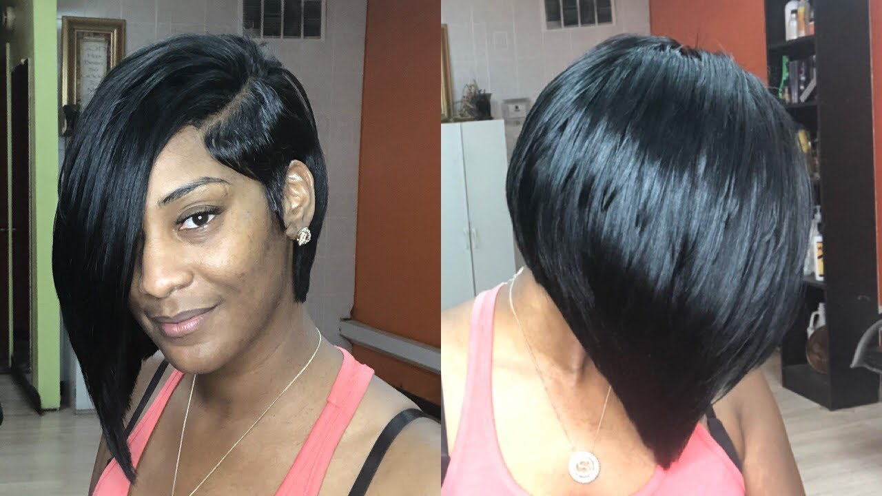 HALF BOB QUICK WEAVE W/ LACE CLOSURE \u0026 DEEP SIDE PART