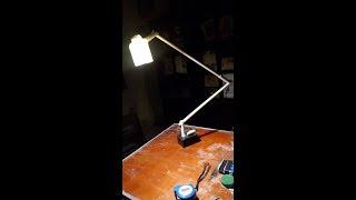 KCT-Chế đèn để bàn làm việc/đèn học bằng ống nhựa - Version 1