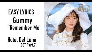 Gummy - Remember Me (Hotel Del Luna OST Part.7) EASY LYRICS