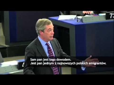 Ostre starcie w PE  Brytyjski europoseł ostro o Tusku  najnowszy polski imigrant   Wiadomości   WP P
