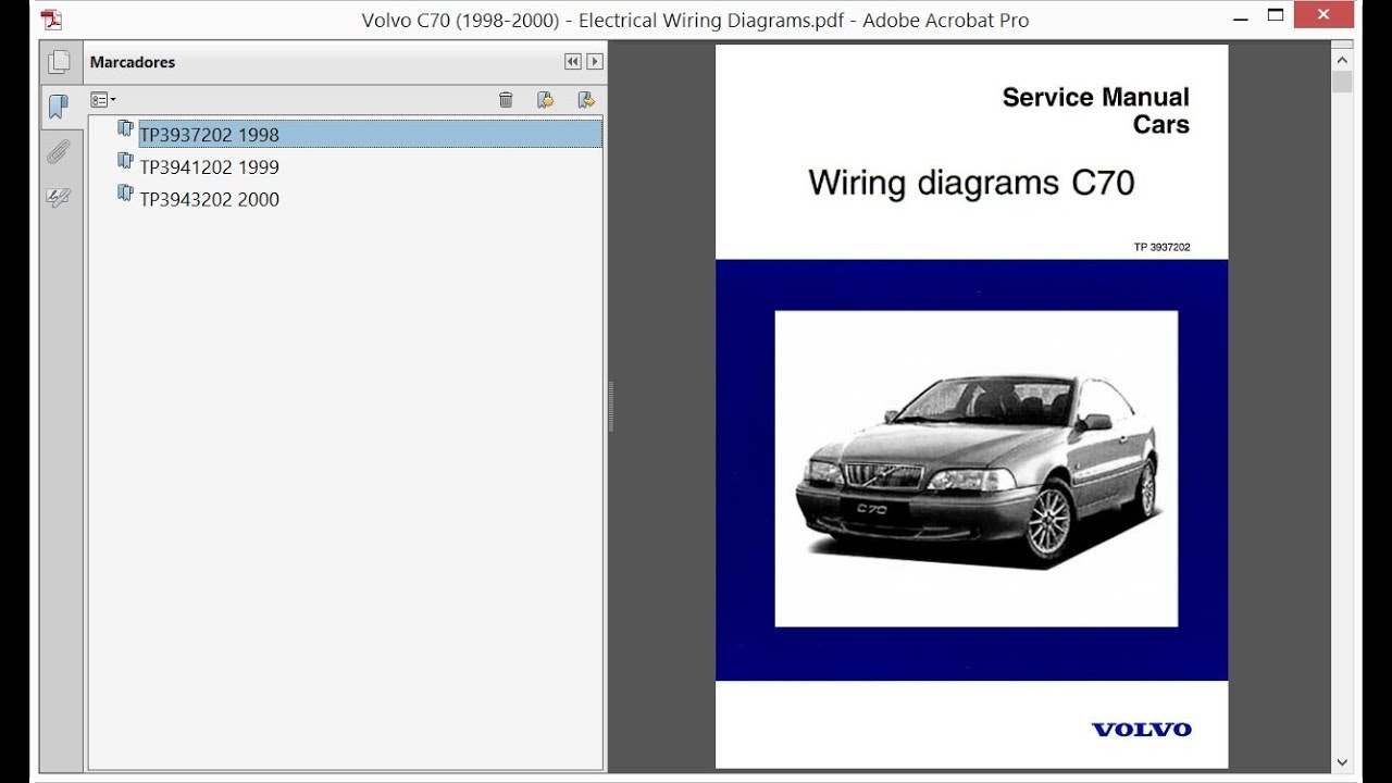 Volvo C70 (1998-2000) - Electrical Wiring Diagrams - YouTube | Volvo C70 Wiring Diagram |  | YouTube